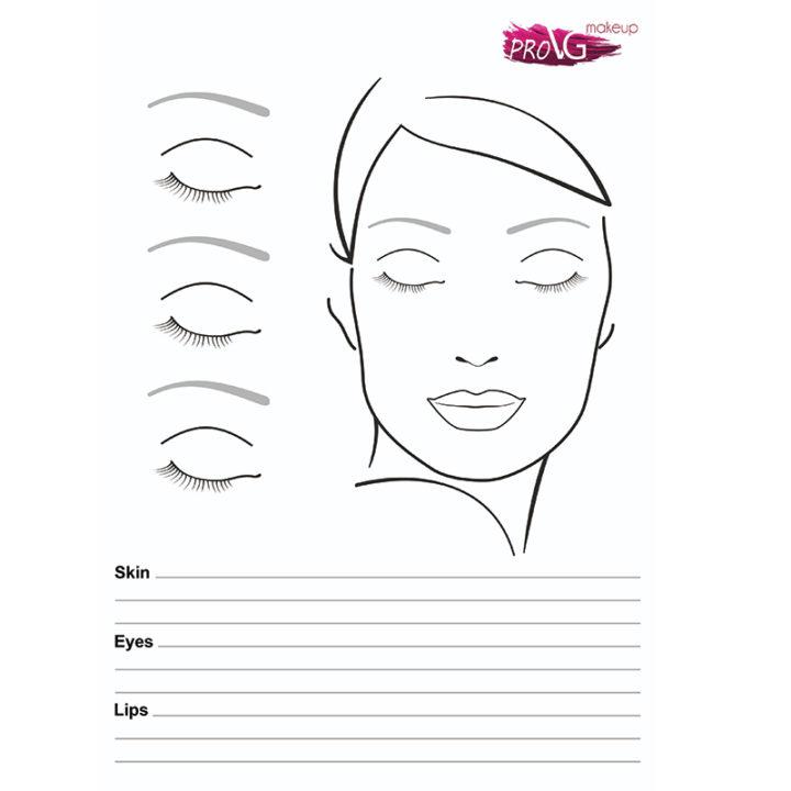 Фейсчарт для визажистов Face Chart ProVG